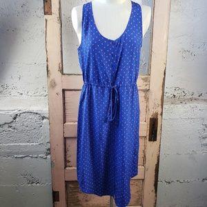 Fossil 100% Silk Blue Printed Sundress